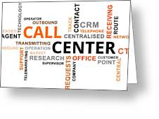 Word Cloud - Call Center Greeting Card