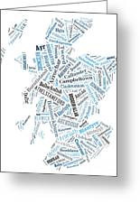 Wordcloud Of Scotland Greeting Card