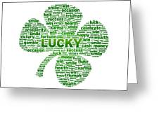 Words - Clover Greeting Card