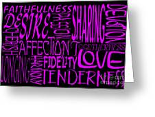 Words Of Love 2 Greeting Card