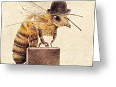 Worker Bee Greeting Card
