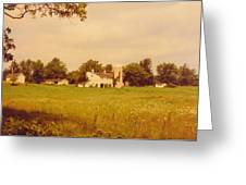 Working Barns And Landscape Greeting Card