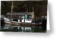 Working Boat Greeting Card by Bill Gallagher