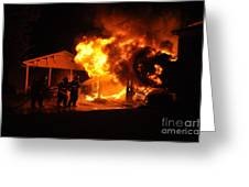 Working Garage Fire Greeting Card by Steven Townsend