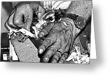 Working Hands Greeting Card
