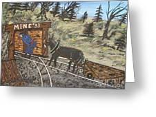The Coal Mine Greeting Card