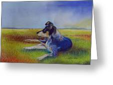 Working Man's Dog Greeting Card by Sandra Sengstock-Miller