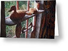 Workshop Window Greeting Card