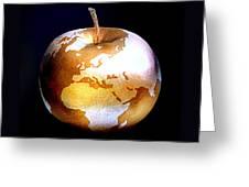 World Apple Greeting Card