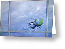 World Breaking Glass Greeting Card
