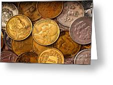 World Coins Greeting Card by Mark Miller