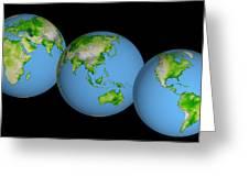 World Globes Greeting Card