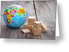 World Import And Export Greeting Card
