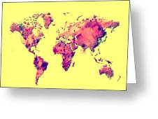 World Map 1t Greeting Card