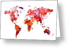 World Map 2f Greeting Card