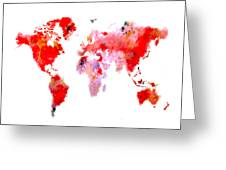 World Map 9 Greeting Card