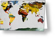 Franz Marc 4 World Map Greeting Card
