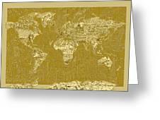World Map Landmark Collage 10 Greeting Card