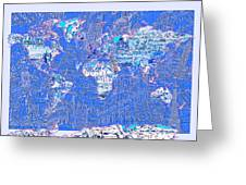 World Map Landmark Collage 8 Greeting Card