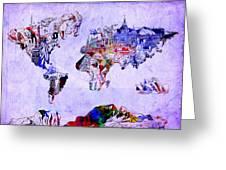 World Map Watercolor 2 Greeting Card