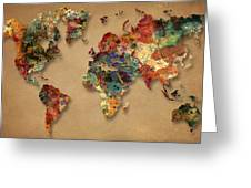 World Map Watercolor Painting 1 Greeting Card