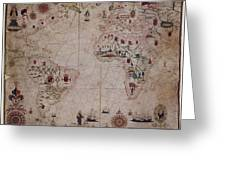 World Nautical Chart 1633 Greeting Card