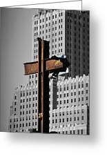 World Trade Center Cross New York Greeting Card