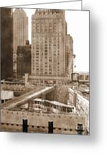 World Trade Center Reconstruction Vintage Greeting Card