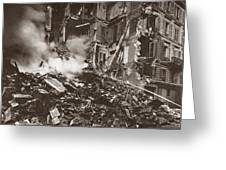 World War I Paris Bombed Greeting Card