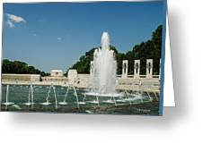 World War II Monument With Lincoln Monument Greeting Card