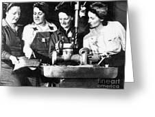 World War II Workers Greeting Card