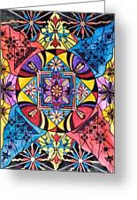 Worldly Abundance Greeting Card by Teal Eye  Print Store