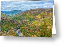 Worlds End State Park Lookout Greeting Card