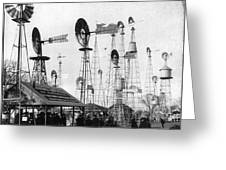 World's Fair Windmills Greeting Card