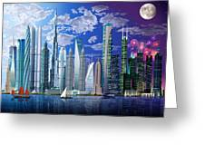 Worlds Tallest Buildings Greeting Card