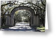 Wormsloe Plantation Gate 2x3 Greeting Card