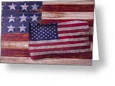 Worn American Flag Greeting Card