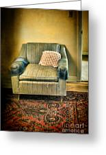 Worn Chair By Doorway Greeting Card