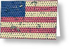 Worn Out American Flag Greeting Card