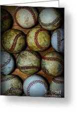 Worn Out Baseballs Greeting Card