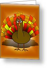 Worried Turkey Illustration Greeting Card