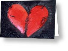 Wounded Heart Greeting Card
