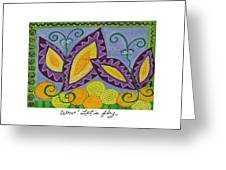 Wow Let's Fly Greeting Card
