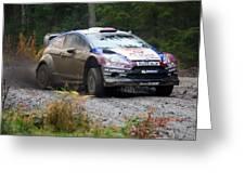 Wrc In The Woods Greeting Card