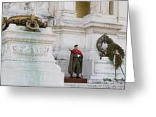 Wreath And Guard At The Tomb Of The Unknown Soldier Greeting Card