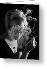 Wreathed In Smoke Greeting Card