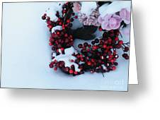 Wreathing Winter Sorrows Greeting Card
