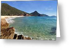 Wreck Beach Shoal Bay Port Stephens Greeting Card