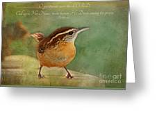 Wren With Verse Greeting Card