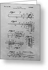 Wrench Patent Drawing Greeting Card